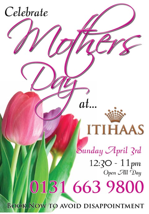 Booked For Mothers Day Itihaas Indian Restaurant Edinburgh